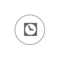 clock in circle icon - save time